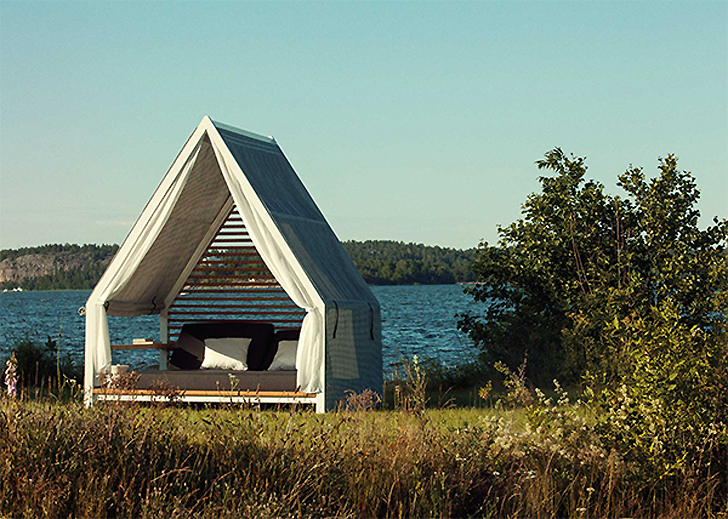 Patricia Urquiola Kettal outdoor furniture tent hammock tiny house pitched & Kettal and Patricia Urquiola create Kettal Cottage: a part tiny ...