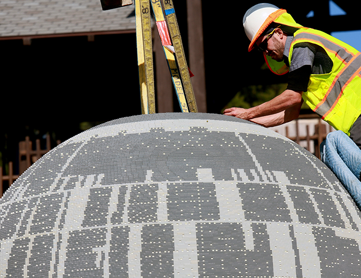This Massive Lego Death Star Is Made From 500 000 Bricks