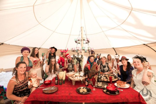 Lotus Belle Outback Tent party