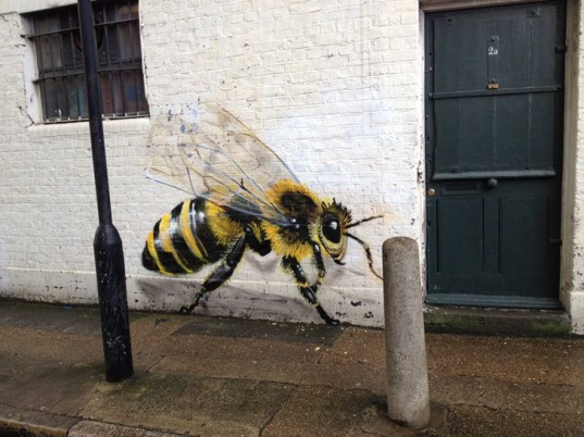 green design, eco design, sustainable design , Louis Masai Michel, Jim vision, Colony collapse disorder, bee populations, street art, #savethebees