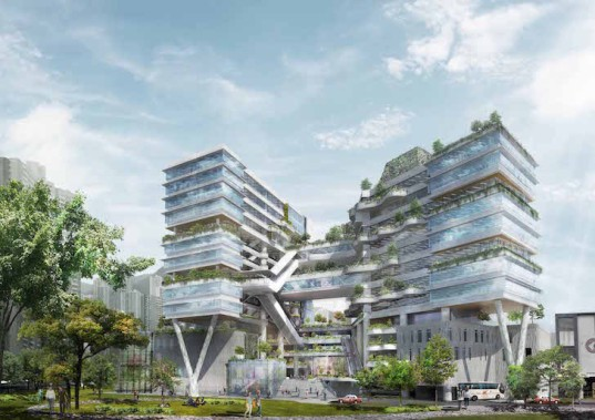 Ronald Lu & Partners, bioclimatic facade, Hong Kong, Green Building Awards, Technological and Higher Education Institute, THEi, THEi campus, sustainable campus, natural ventilation, light permeating,