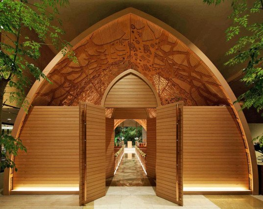 Merveilleux Unique Wedding Chapel, Japanese Wedding Chapel, Natural Motif Wedding Chapel,  Hand Carved