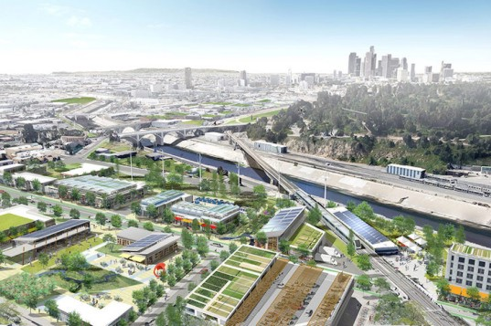 Perkins+Will, Urban Greening Plan, Los Angeles, urban agriculture, mixed use, pedestrian friendly los angeles, Cornfield Arroyo Seco Specific Plan, CASP los angeles, green inftrastructure, Los Angeles River, food hub, food deserts, Civic Enterprises, Fishburn Kitchens