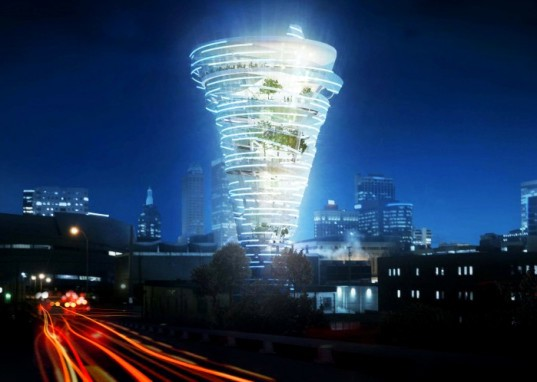 Oklahoma Weather Museum, Kinslow, Keith & Todd, KKT Architects, tornado-shaped tower, tornado, Tornado Alley, Tulsa, weather museum, tower, museum, Oklahoma, extreme weather