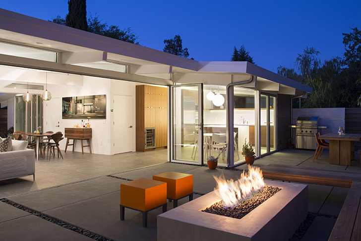 Classic Eichler renovated into a naturally-cooled home that blends ...