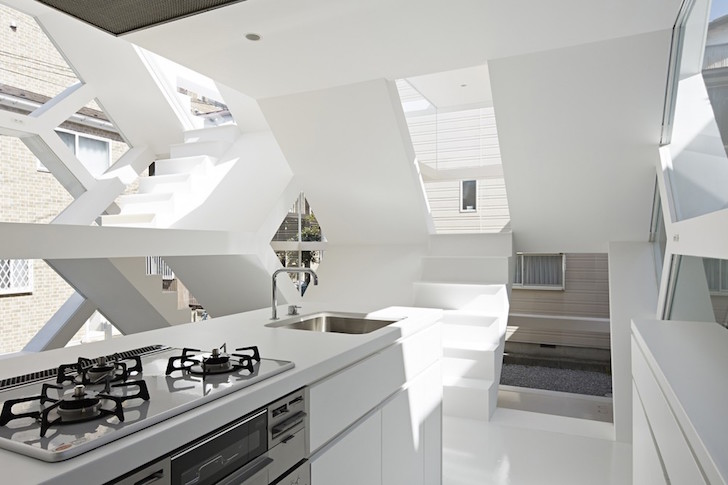 S-House is a see-through glass home with an M.C. Escher-like interior