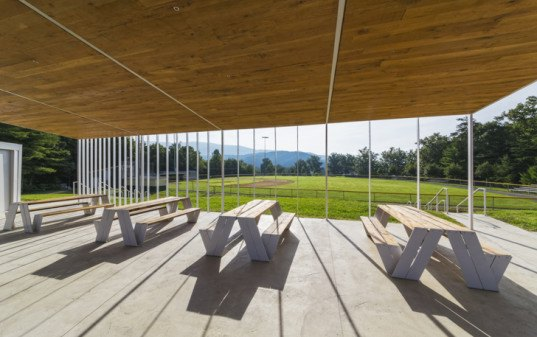 design/buildLAB, Virginia Tech, baseball fields, glass pavilion, pavilion, student project, student work, natural cooling, passive sustainability, landscape architecture