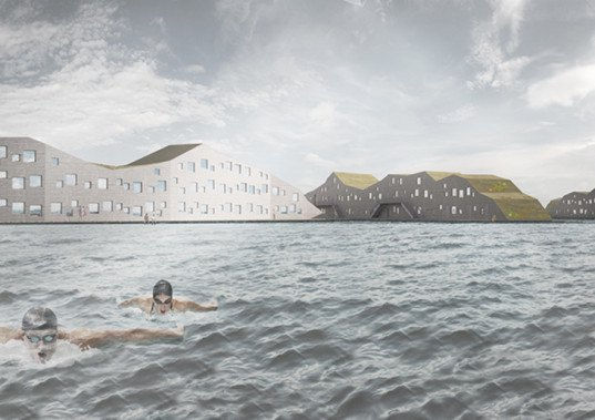 swimcity, belatchew arkitekter, belatchew labs, stockholm, swedish architecture, floating residence, student housing, 3d-printed housing, 3d-printing, dormitory