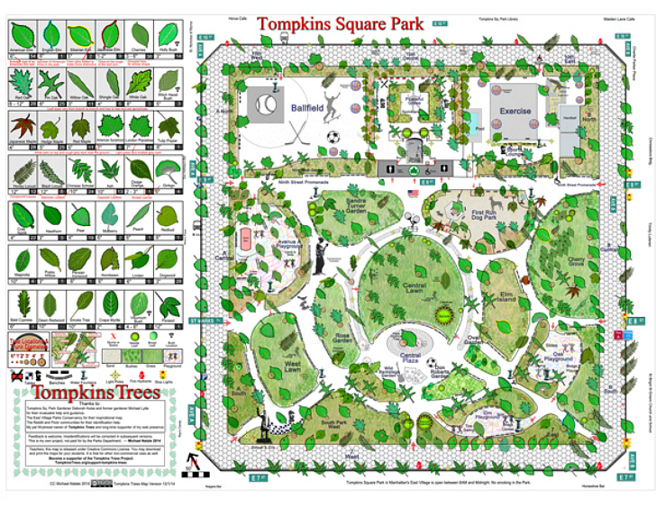 Nature Lover Makes Incredibly Detailed Map Of Tompkins Square Parks
