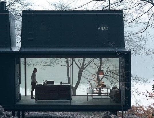 Vipp, Vipp Shelter, prefab home, prefab escape, prefab, minimalist home, compact house, open plan, modular, self contained home, prefab architecture, plug and play