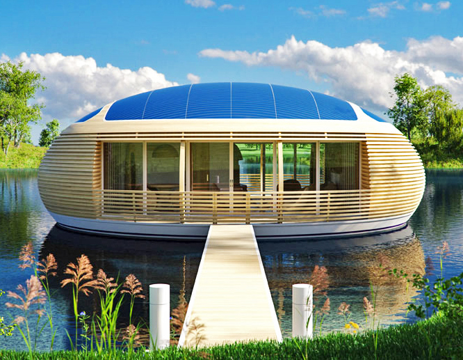 Adorable Solar Powered Floating Eco Home Is Nearly 100% Recyclable |  Inhabitat   Green Design, Innovation, Architecture, Green Building