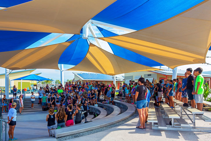 Sustainable School Features An Outdoor Auditorium And Reef