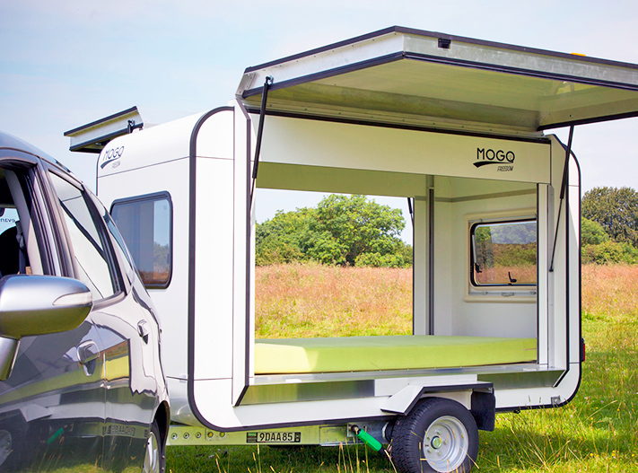 Tiny Mogo Freedom trailer transforms into a camper for two