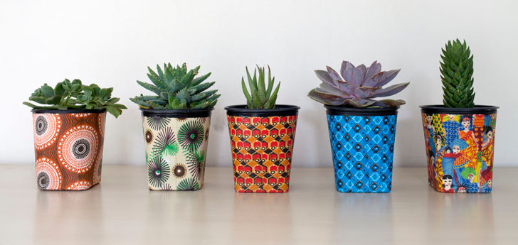 Reclaim Design uses recycled and reclaimed materials to craft their  handmade line of planter pots  vertical gardens  and even wall mounted and  hanging. Reclaim Design handcrafts upcycled planter pots for your eco