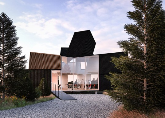 Cargotecture, James Whitaker, shipping container, shipping containers, shipping container office, cargotecture office, low cost office, affordable office building, Hechingen Studio