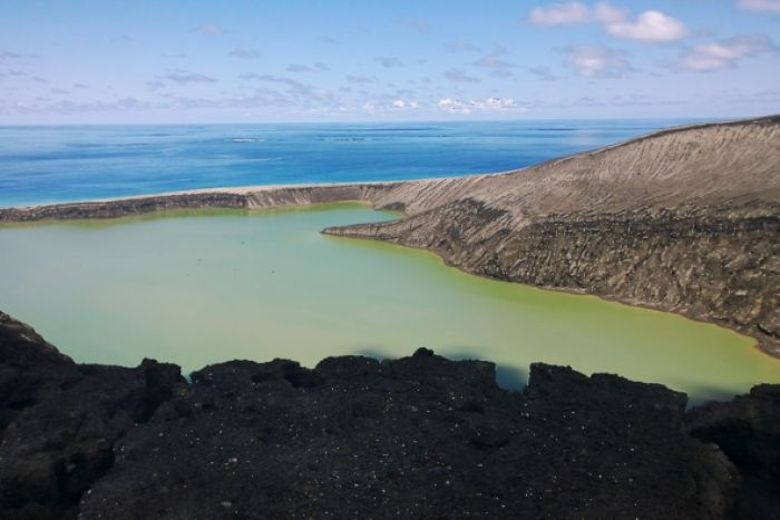 Earth's newest volcanic island is photographed for the first time—and maybe the last