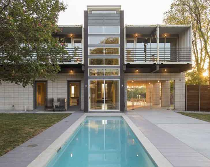 Sprawling Dallas Home Is Built From 14 Shipping Containers