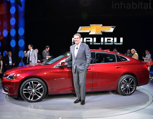 Mark Reuss, 2016 Chevrolet Malibu, 2016 Chevrolet Malibu Hybrid, 2016 Malibu Hybrid, Malibu Hybrid, New York Auto Show, Chevy Malibu, Chevrolet Malibu Hybrid, Chevy Malibu Hybrid, hybrid car, green cars, green transportation, sustainable transportation, green vehicle, GM, general motors, chevrolet, chevy, NYIAS, NYIAS 2016