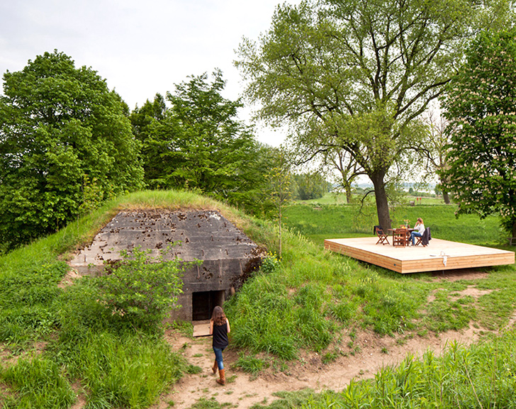 Wartime bomb shelter conceals a tiny and unexpected vacation home ...