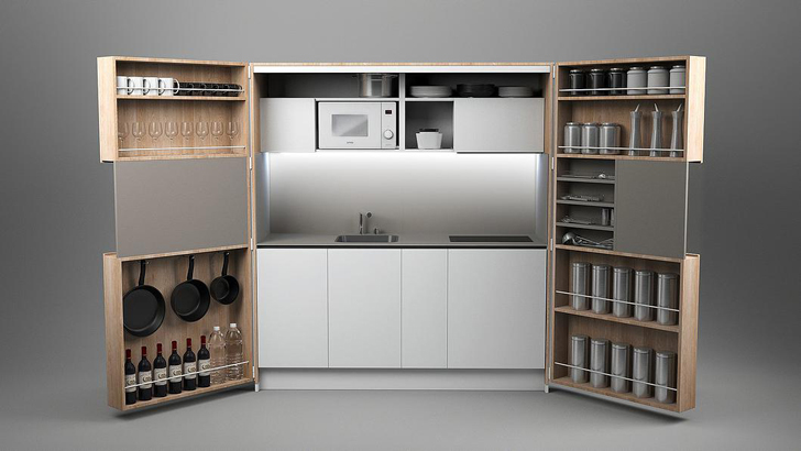 Dizzconcept S Full Sized Gourmet Pia Kitchen Fits In A