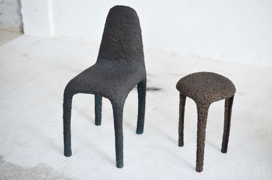 Max Lamb, Max Lamb chairs, Max Lamb seating, Max Lamb designs, Max Lamb Milan, Max Lamb Milan furniture fair, Milan furniture fair, Milan design week, Milan designs, Milan design fair, Milan Design Week 2015, wood chairs, steel chairs, marble chairs, sustainable furniture