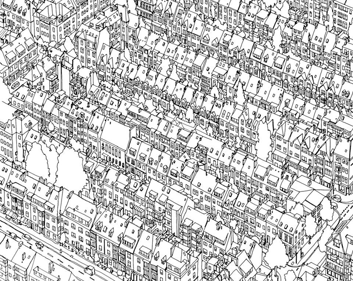 Fantastic Cities is an architecture-themed coloring book for ...