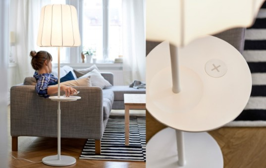 IKEA wireless charging collection lamp table
