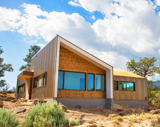 Corten steel, Corten, Capitol Reef Dwellings, Capitol Reef National Park, Imbue Design, minimalist, desert, desert house, juniper trees