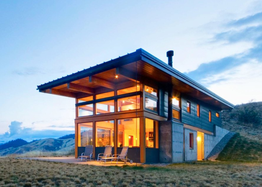 Nahahum cabin passive solar lead inhabitat green for Passive solar cabin design