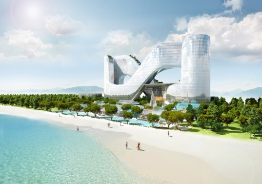 green design, eco design, sustainable design, PyeongChang, Planning Korea Designs, 2018 Winter Olympics, sky gardens, infinity shaped architecture