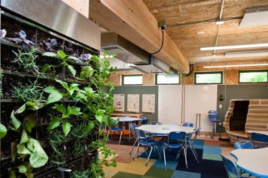 Phipps Conservatory and Botanical Gardens, SEED classroom, SEED Collaborative, modular classroom, net-zero classroom, learning spaces, net-energy architecture, prefab architecture, prefab, photovoltaics, rainwater harvesting, greywater reuse