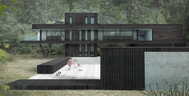 Architect Todd Saunders Family Home Cantilevers With