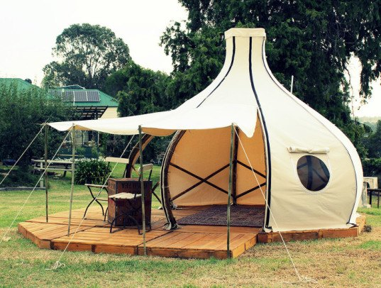 Portable Camping Pods : This gorgeous bamboo f route pod is perfect for your next
