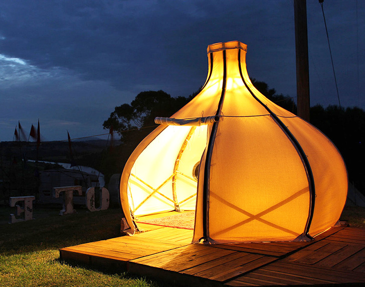Architecture & This gorgeous bamboo (f)route POD is perfect for your next glamping ...