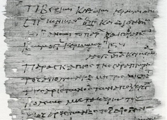 Ancient Graeco-Roman papyrus offers a curious natural