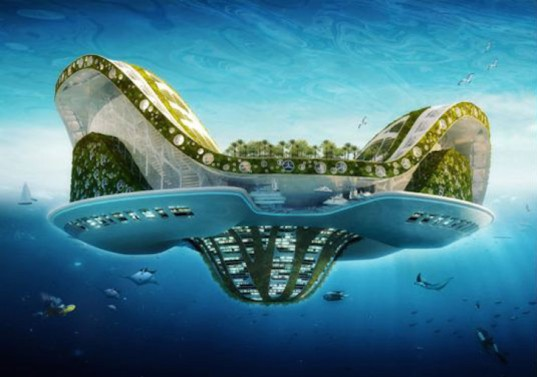 AT Design office, floating city project, rising sea levels, overcrowding, zero carbon, self sufficient city, energy efficient city, modular city, noah's oak, x tu, x sea ty, carbon absorbing city, harvest city, vincent callebaut, the lilypad, zero emission, silt lake city