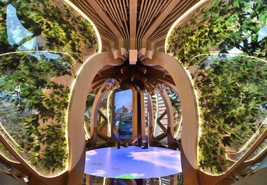 World Expo, Milan Expo, World Expo 2015, 2015 Milan Expo, Azerbaijan pavilion, Milan Expo 2015, world expo, wooden facade, recycled materials, biosphere, Azerbaijan, pavilion, green architecture, timber louvers