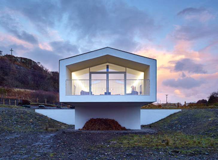 Cantilevered Holiday Home Frames Views Of Scotland S Small