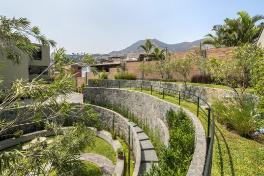 peru, lima, cockfighting, cockfighting arena, garden, garden makeover, 2.8x architects, stone garden, repurposed materials