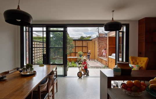 PHOOEY Architects, green renovation, melbourne, australian architects, salvaged materials, upcycling, Victorian-era house, brick house, recycled materials, natural light