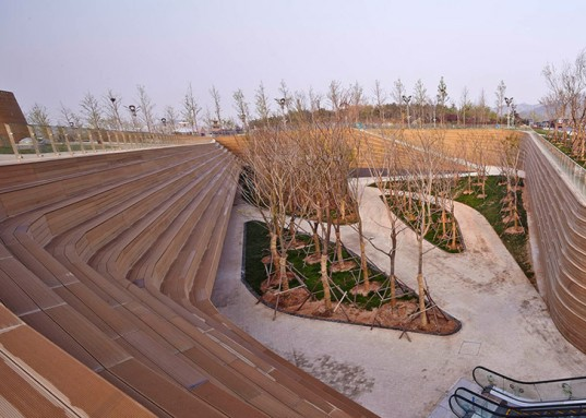 HHD_FUN, China, International Horticultural Exposition 2014, horticulture, green roof, landscape architecture, wooden walkways, rooftop garden, Chinese architects, green architecture