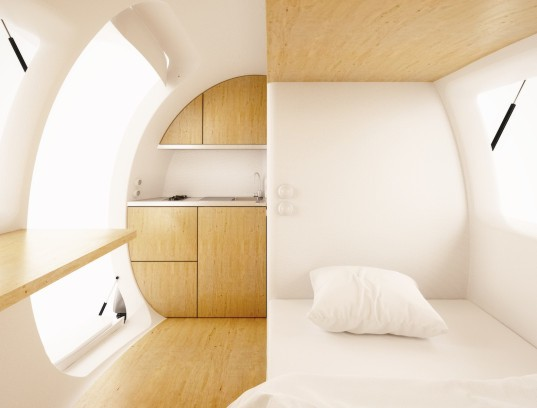 Ecocapsule, Ecocapsule by Nice Architects, Nice architects, egg-shaped house, egg-shaped architecture, portable house, tiny house, micro shelter, off grid house, off grid architecture, rainwater collection, solar power, wind power