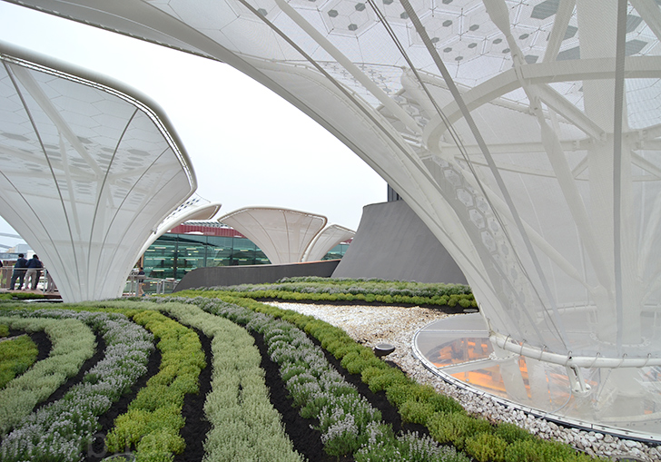 undulating german pavilion brings a field of ideas to milan expo 2015 inhabitat green design innovation architecture green building - Large Canopy 2015