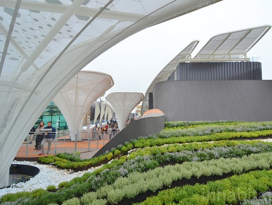 """Undulating German pavilion brings a """"field of ideas"""" to Milan Expo 2015"""