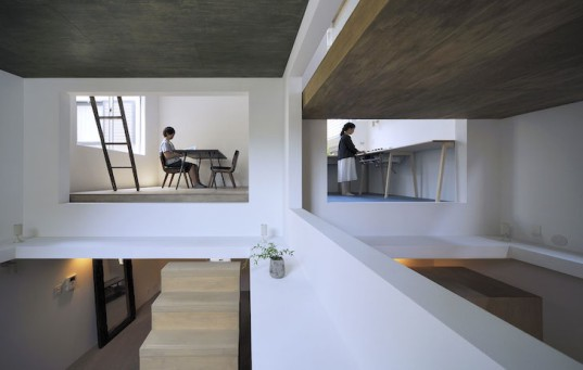 Hiroyuka Shnozaki Architects, House T, Ninja House, Tokyo, Japan, Japanese design, green design, sustainable design, eco-design, space management, home office, tiny homes