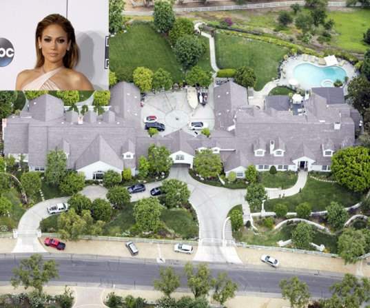 Jennifer Lopez, drought, California drought, celebrity estates, California estates, wasting water, water conservation, water crisis, drought-resistant plants, aerial photos