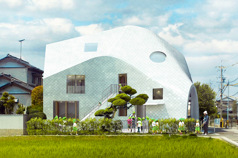MAD Architects transform a home into a flexible kindergarten by wrapping it in a luminous skin