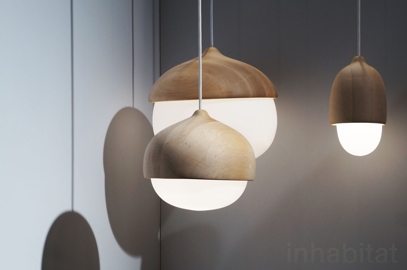 28 inspiring lighting designs from new york design week acorn lamps by mater designs inhabitat. Black Bedroom Furniture Sets. Home Design Ideas