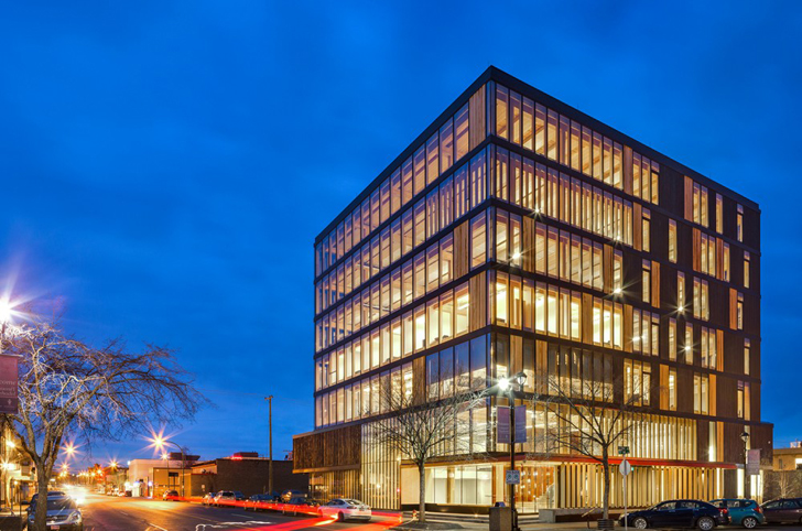 Wood Innovation Design Center Rises As World 39 S Largest