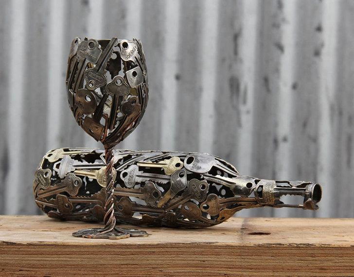 Canadian artist transforms keys and coins into surprising works of art